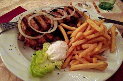 Griechisches Restaurant Fürstenau Hellas Suzuki Pommes
