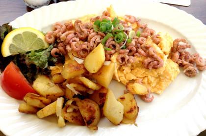 Nordseekrabben-Frühstück